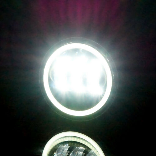 For 07-17 Jeep Wrangler JK Halo LED Headlight Halo LED DRL Fog Light Combo Kit
