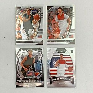 2020 PRIZM LAMELO BALL ROOKIE CARD CHARLOTTE HORNETS RC LOT (4) INVESTMENT