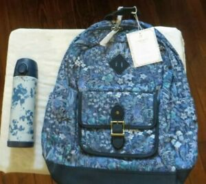Pottery Barn Set Backpack Large Water Bottle Flower