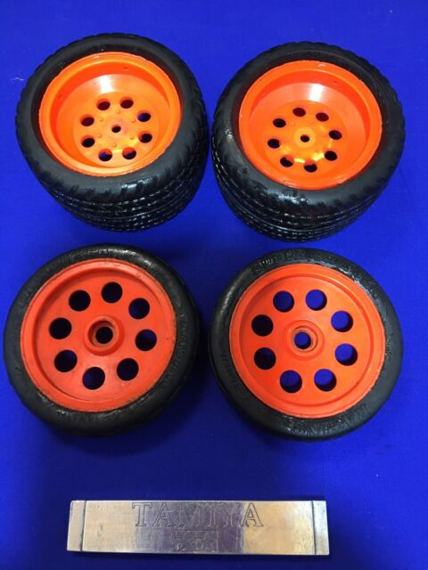 Tamiya Vintage Super Hornet Wheels Tyres Rc Car Spares Project Parts Good