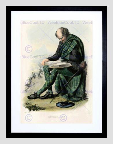PAINTING HIGHLAND CLAN SCOTLAND TARTAN CAMPBELL ARGYLL FRAMED PRINT B12X12492