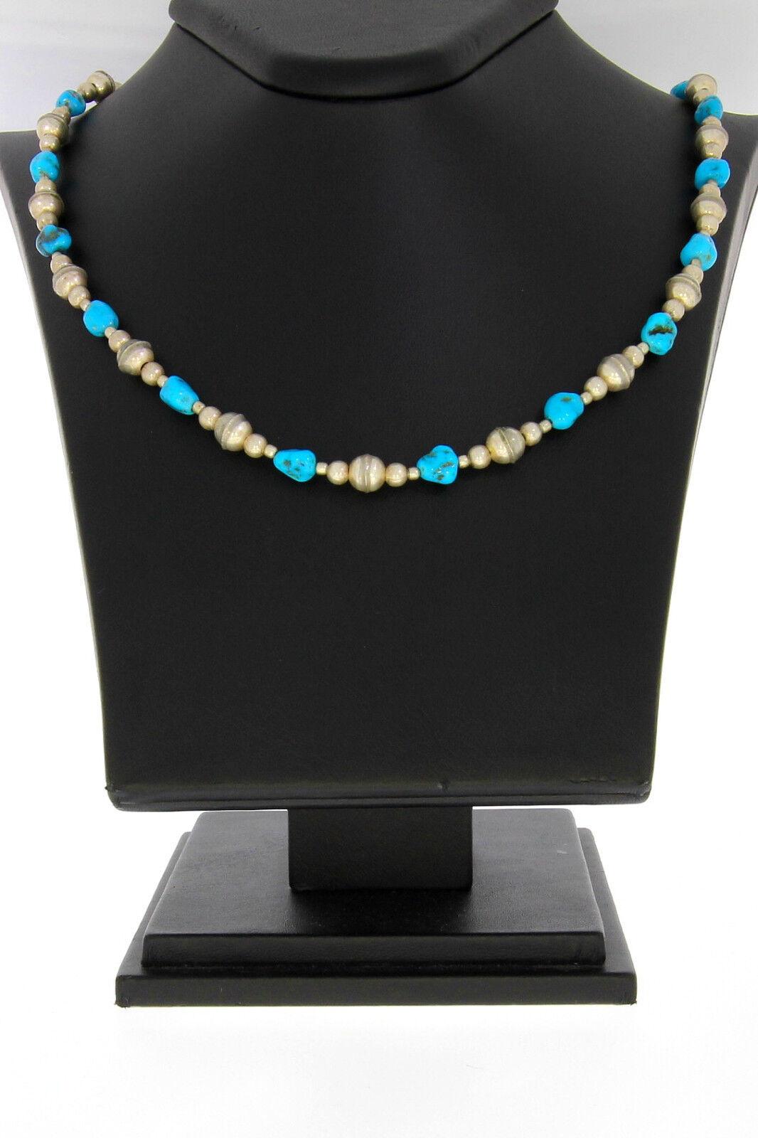 7265-925er argentoO Collie con argentoo Perle Turchese Catena Lunga 48 48 48 cm Gewi 15 3 grammi 3f2397