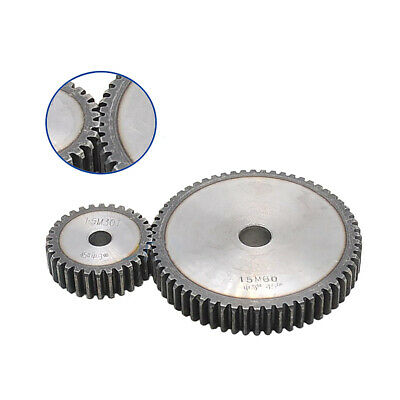1 Mod 76T Spur Gear Steel Motor Pinion Gear Thickness 10mm Outer Dia 78mm x 1Pcs