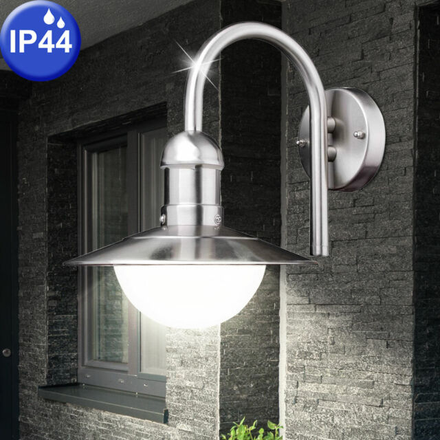 LED 2er Set Haus Wand Strahler Terrasse Beleuchtungen rund Außen Leuchten Lampen