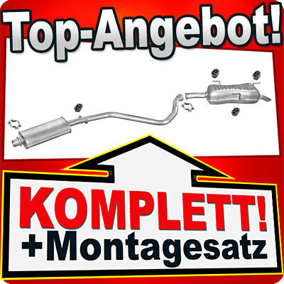 8B Kit Abgasanlage Auspuff Schalldämpfer Peugeot 406 1.8 /& 1.8 16V Stufenheck