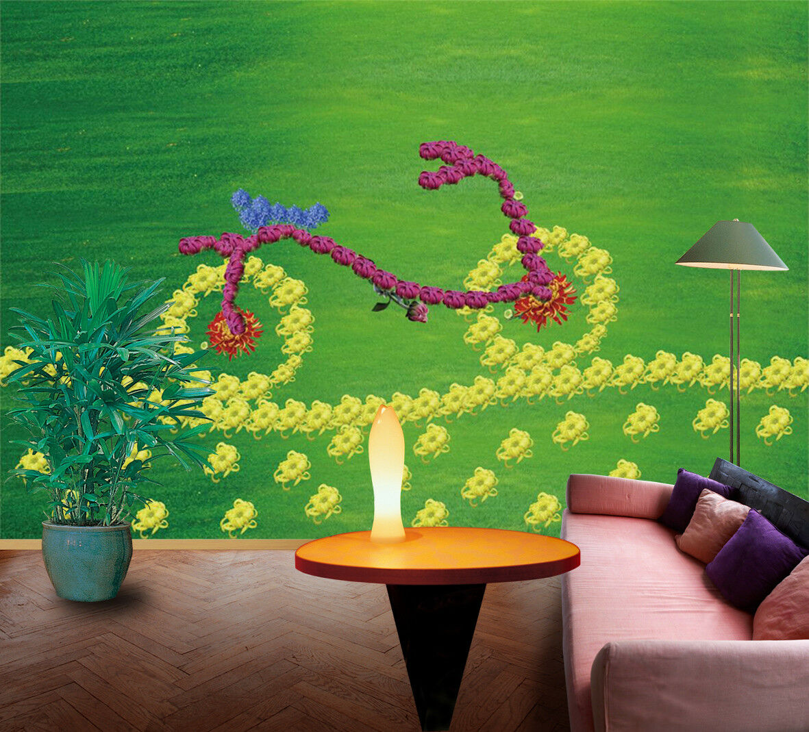 3D Grassland Bike 47 Wallpaper Murals Wall Print Wallpaper Mural AJ WALLPAPER UK