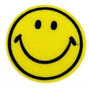 Détails Sur Grand Smiley Sourire Sew On Patch Sacs Jeans Vêtements Plaine Jaune Afficher Le Titre D Origine