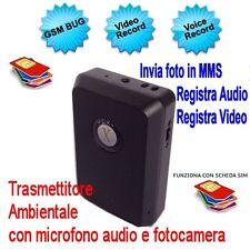 SPY GSM X2000 REGISTRA INVIA MMS ASCOLTO AMBIENTALE SPIA MINI CAMERA AUDIO VIDEO