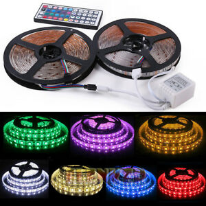 32FT-10M-5050-RGB-Flexible-Strip-300-SMD-LED-Light-44-Key-IR-Remote-Controller