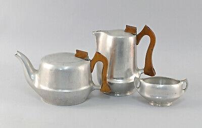 Nachdenklich 8430025 Designer Kernstück Tee Kaffee Kanne Aluminium Picquot Ware 50er Jahre