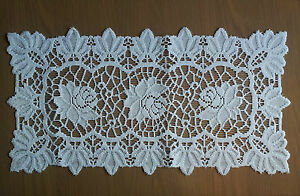 Fancy-new-rectangular-lace-Table-Mat-Doily-Napkin-White-elegant-gift