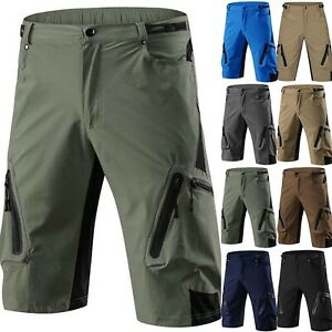 Men-039-s-Cycling-Mountain-Bike-MTB-Bicycle-Baggy-Shorts-Pants-Jogger-Zipper-Pockets