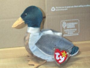 ebcf5151125 TY beanie baby babies Jake Mallard Duck 4-16-1997 Easter Duck ...