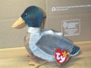 TY-beanie-baby-babies-Jake-Mallard-Duck-4-16-1997-Easter-Duck-retired-5-034-tall