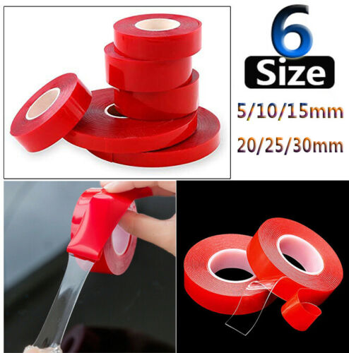 Waterproof Double Sided Permanent Strong Adhesive Super Sticky Clear Tape Hot FA