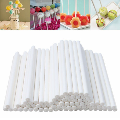 Plastic Sticks Making DIY Cake Candy Sucker Sweets Support Lollipop Lolly Supply