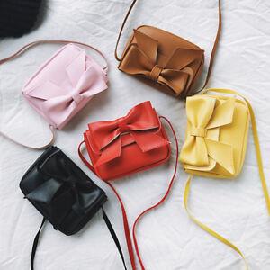 Children-Kids-Girls-big-bow-Handbag-Shoulder-Messenger-Bags-Crossbody-Wallet-UK