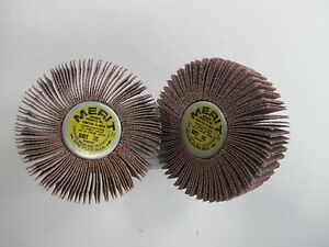 """8/"""" BY 2/"""" 80 GRIT  MERIT FREE SHIPPING LOT OF 2 Flap Wheels"""