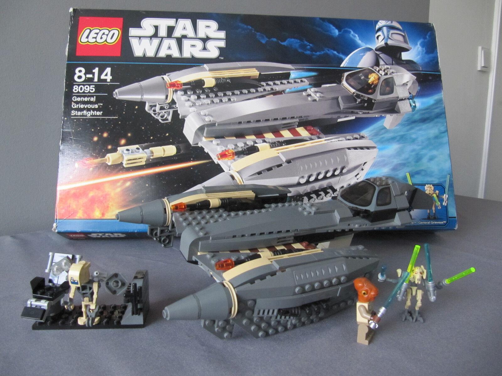 LEGO StarWars 8095 General Grievous' Starfighter mit OVP und Figuren