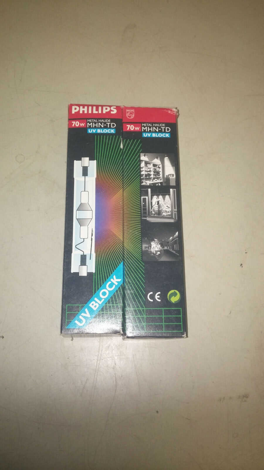 PHILIPS MHN70-TD NEW IN BOX LOT OF 2 70W HALIDE UV DOUBLE ENDED BULB  B35