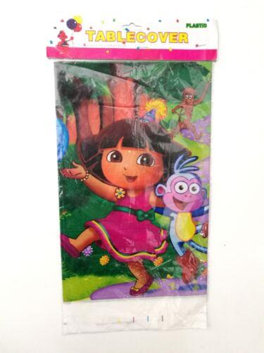 Dora Kids Table Cover Cloth Tableware Party Supplies plastic 108CM X 180CM