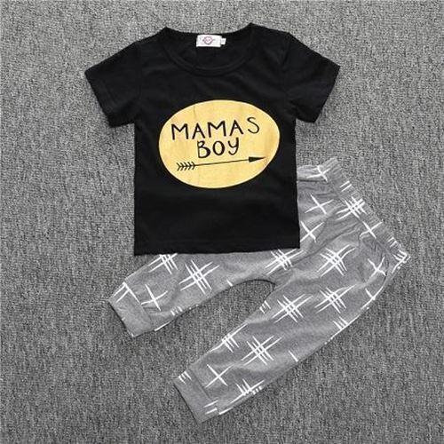 Sport Suits Summer Kids Short Sleeve Boy T-shirt Pants Suit Clothing Set