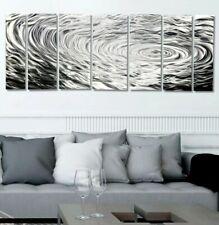 Metal Wall Art ULTRA MODERN All Silver Etching Panels SIGNED ORIGINAL Jon Allen