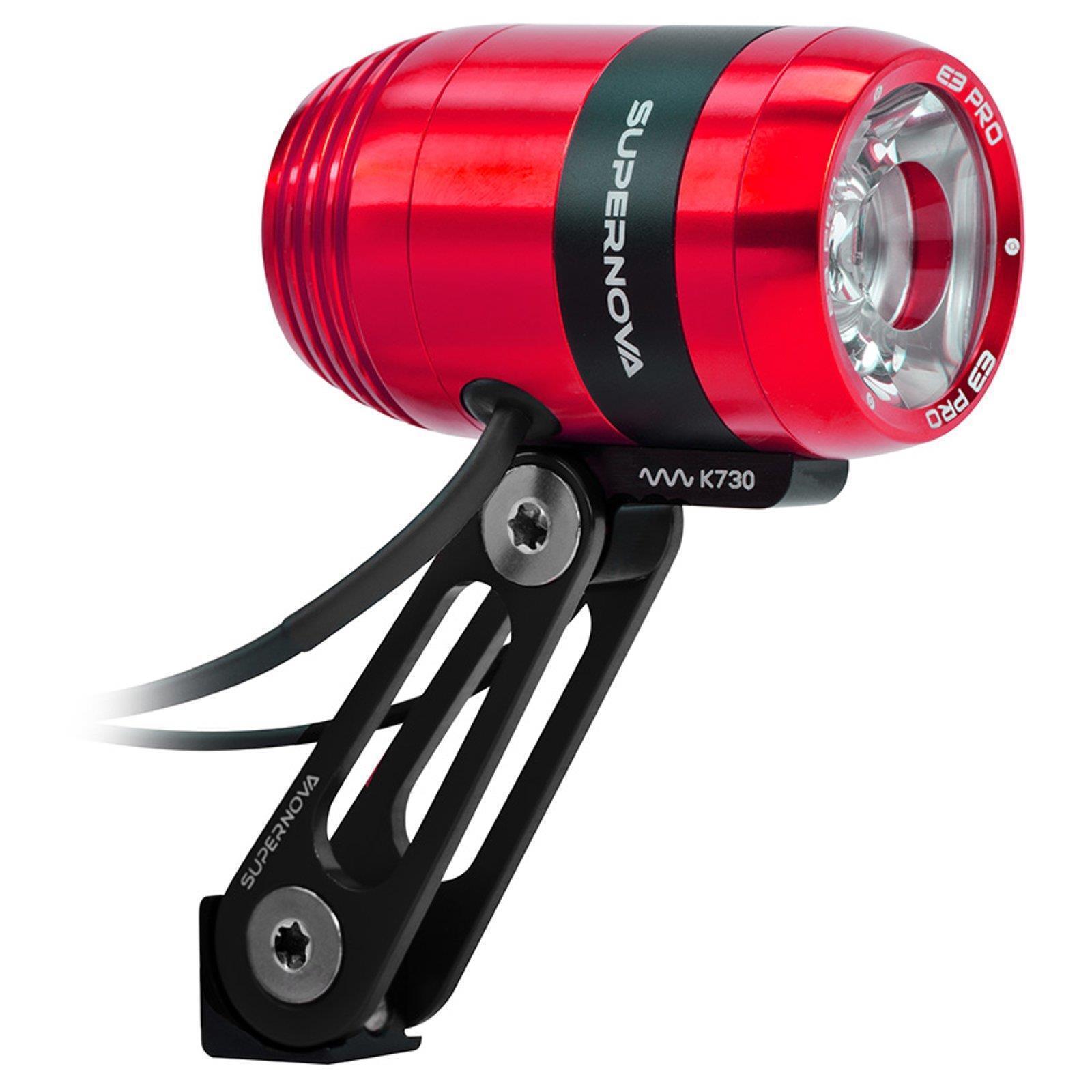 SUPERNOVA E3 Pro 2 Terraflux 2 red LED Lumen Dynamo Fahrrad Lampe mit Standlicht