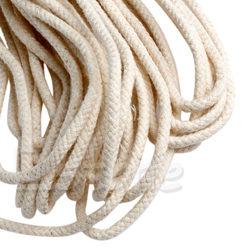 10M 33 ft Braided Cotton Core Candle Making Wick For Oil Or Kerosene Lamps 4mm