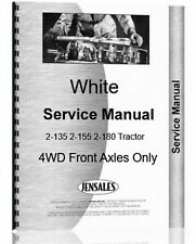 White 2 135 2 155 2 180 Tractor Service Repair Manual 4wd Axle Only