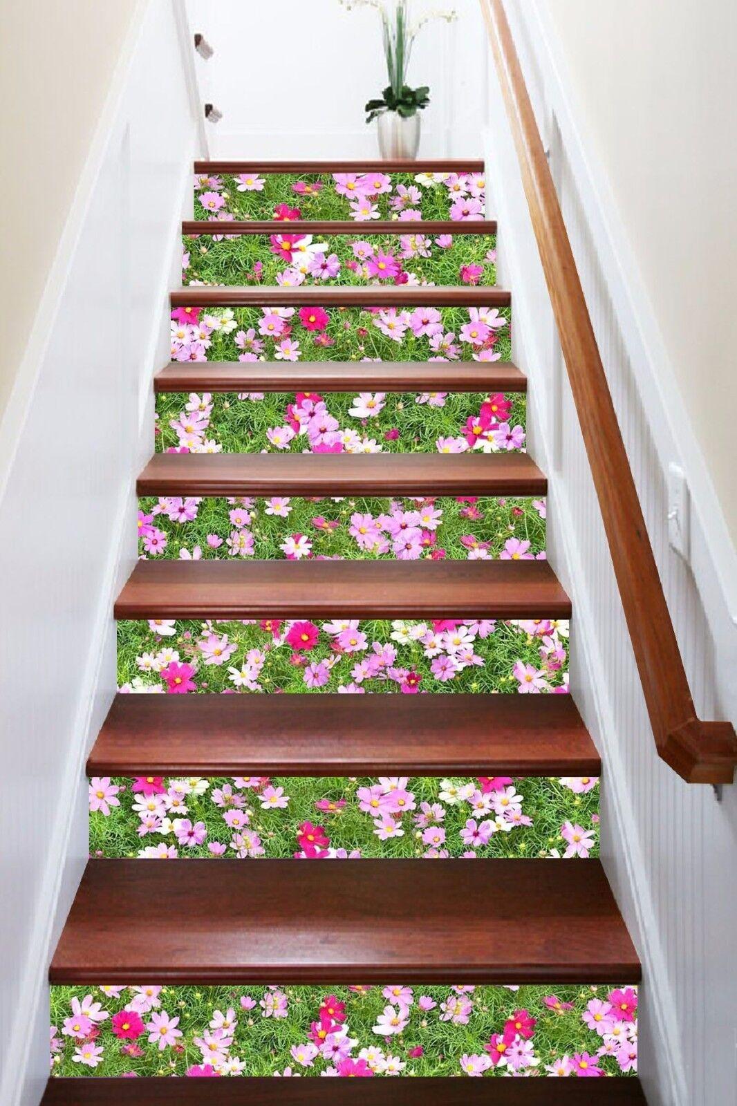 3D Flower 5001 Stair Risers Decoration Photo Mural Vinyl Decal Wallpaper AU