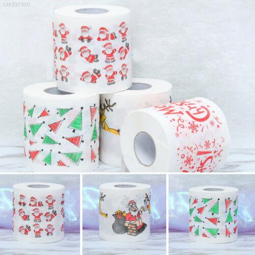 4FC3 Santa Claus Toilet Roll Paper Home Festival Cute Tissue
