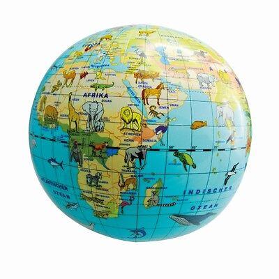 Aufblasbarer GLOBE Weltkugel Wasserball Erdglobus Ball Strandball Dia:38cm^\