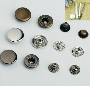 Details about 30set Snap Fasteners/Popper Press Stud And Manual  Installation Tool Button Kit