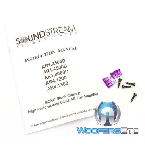 SOUNDSTREAM AR4.1800 4-CHANNEL 1800W COMPONENT SPEAKERS TWEETERS AMPLIFIER NEW