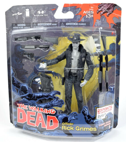 The Walking Dead Comic Series Black & White OFFICER RICK GRIMES Figure McFarlane