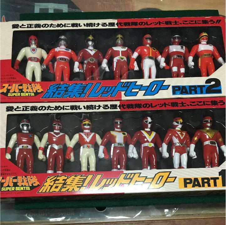 ROT HEROS PART 1 & 2 SET LOT COLLECTIBLE FIGURINE TOY NIB SUPER SENTAI JAPAN F/S