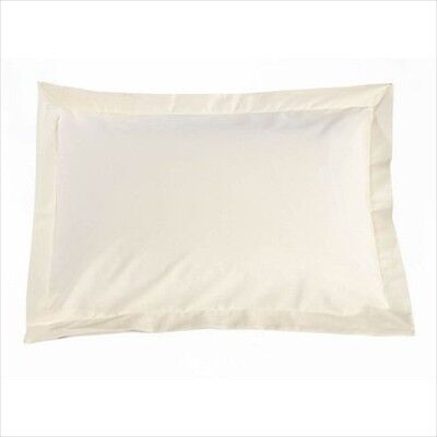 Cream 100 Egyptian Cotton Oxford Pillowcase X 2 Size 50 76 Cm New