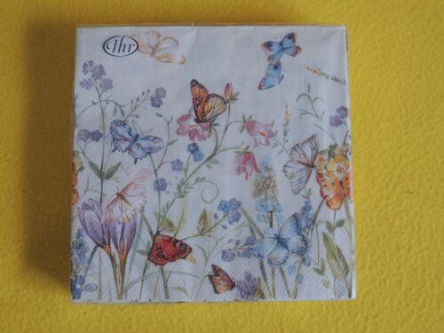 20 Servietten Schmetterlinge Blumenwiese 1 Packung OVP Butterlies Blossoms IHR