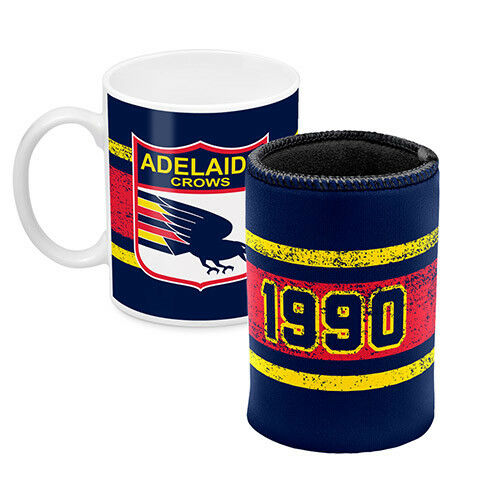 West Coast Eagles AFL Coffee Mug Can Cooler Fathers Day Bar Man Cave Gift