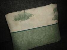 WESTPOINT STEVENS GREEN TAN PALM TREES TWIN XL//TWIN FLAT SHEET 64 X 96