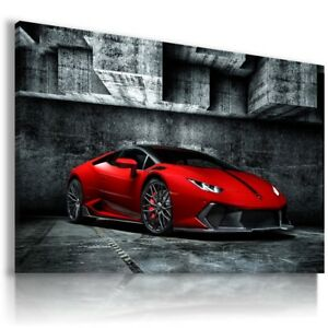 Image Is Loading LAMBORGHINI HURACAN RED Super Sports Car Wall Art
