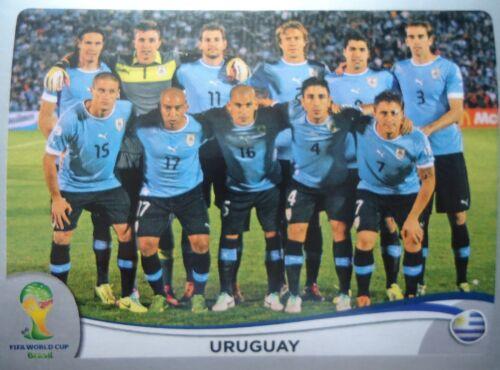 PANINI 261 équipe Uruguay FIFA Coupe du Monde 2014 Brésil