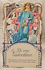 VINTAGE EARLY 20th CENTURY VALENTINE GREETING CARD - TO MY VALENTINE - ANGEL