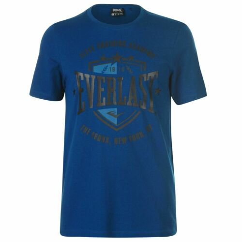 Everlast Mens Shield T Shirt Crew Neck Tee Top Short Sleeve Tonal Stitching