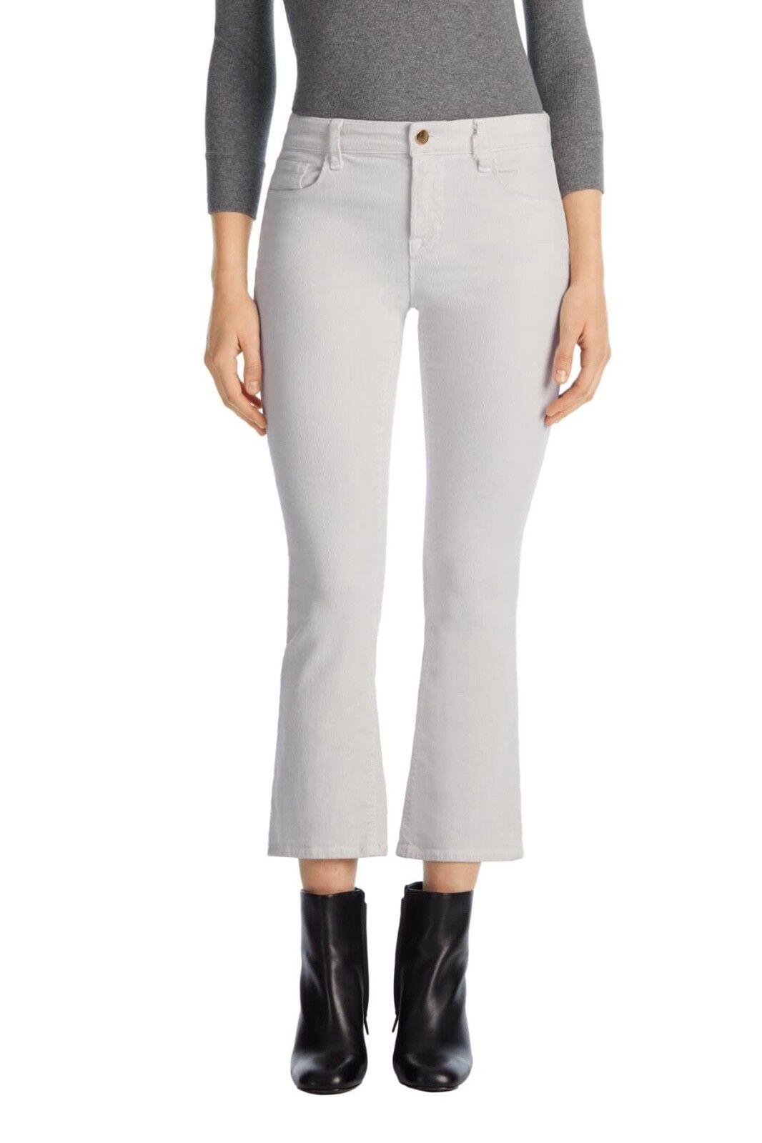nyA J BRAND Selena Mid Rise Cropped Boocut Jean in Moonbeam - Storlek 29