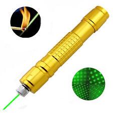 Military 2000M Adjustable Focus Green Laser Pointer Pen 532nm Burning 1mW UK