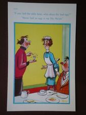 POSTCARD COMIC IF YOU LAID THE TABLE WHAT ABOUT THE BAD EGGS - NEVER LAID A BAD