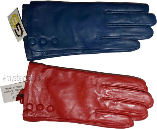 Ladies Dress warm winter Leather Gloves NWT Lot of 2 S Women/'s Leather Gloves