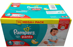 Jumbo Box Of 94 Pampers Disposable Nappy Pants Size 4 8